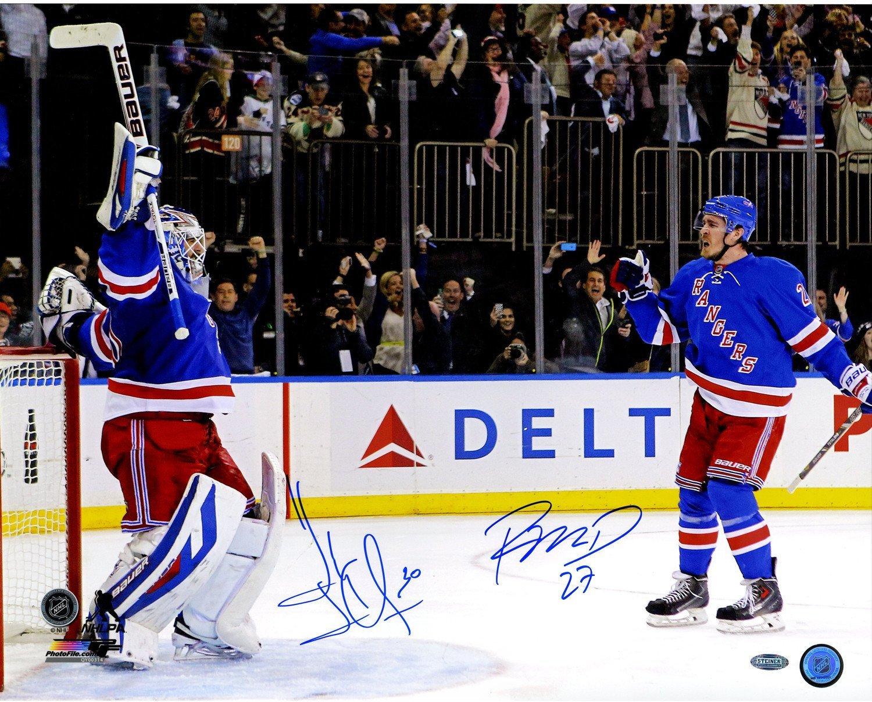Henrik Lundqvist Ryan McDonagh Dual Signed Celebration 16x20 Photo at  Amazon s Sports Collectibles Store 7e654599e