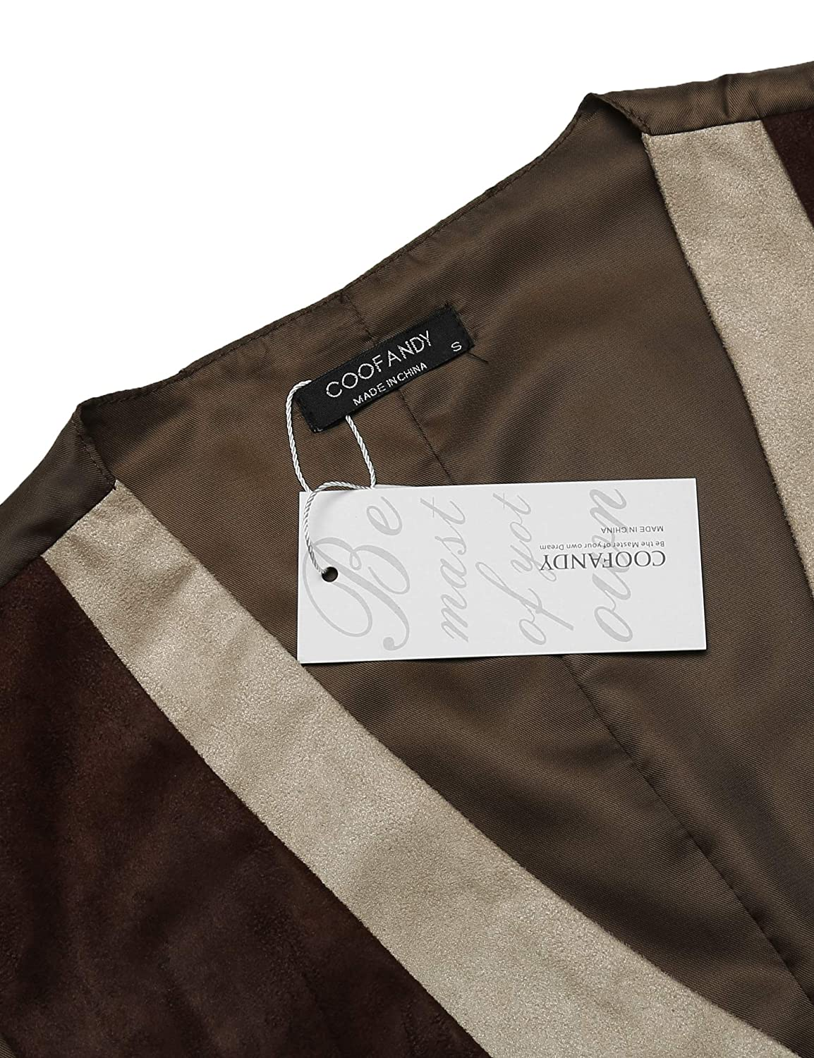 COOFANDY Mens Suede Leather Vest Layered Style Dress Vest Waistcoat