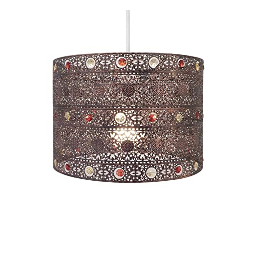 morrocan style lighting. Antique Bronze Gem Moroccan Style Chandelier Ceiling Light Shade Fitting, Plastic/Metal, Morrocan Lighting