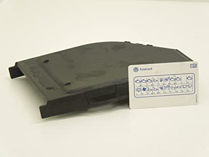 VW Phaeton, D1 tarjeta de tapa de caja de fusibles con fusible ...