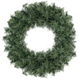 """Northlight 20"""" Canadian Pine Artificial Christmas Wreath - Unlit"""