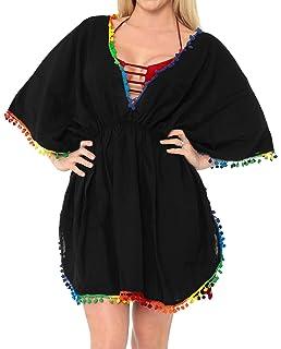 ad28c0aa8ad58 LA LEELA Beach Cover ups Dresses Swimsuit Blouse Caftan Bikini ...