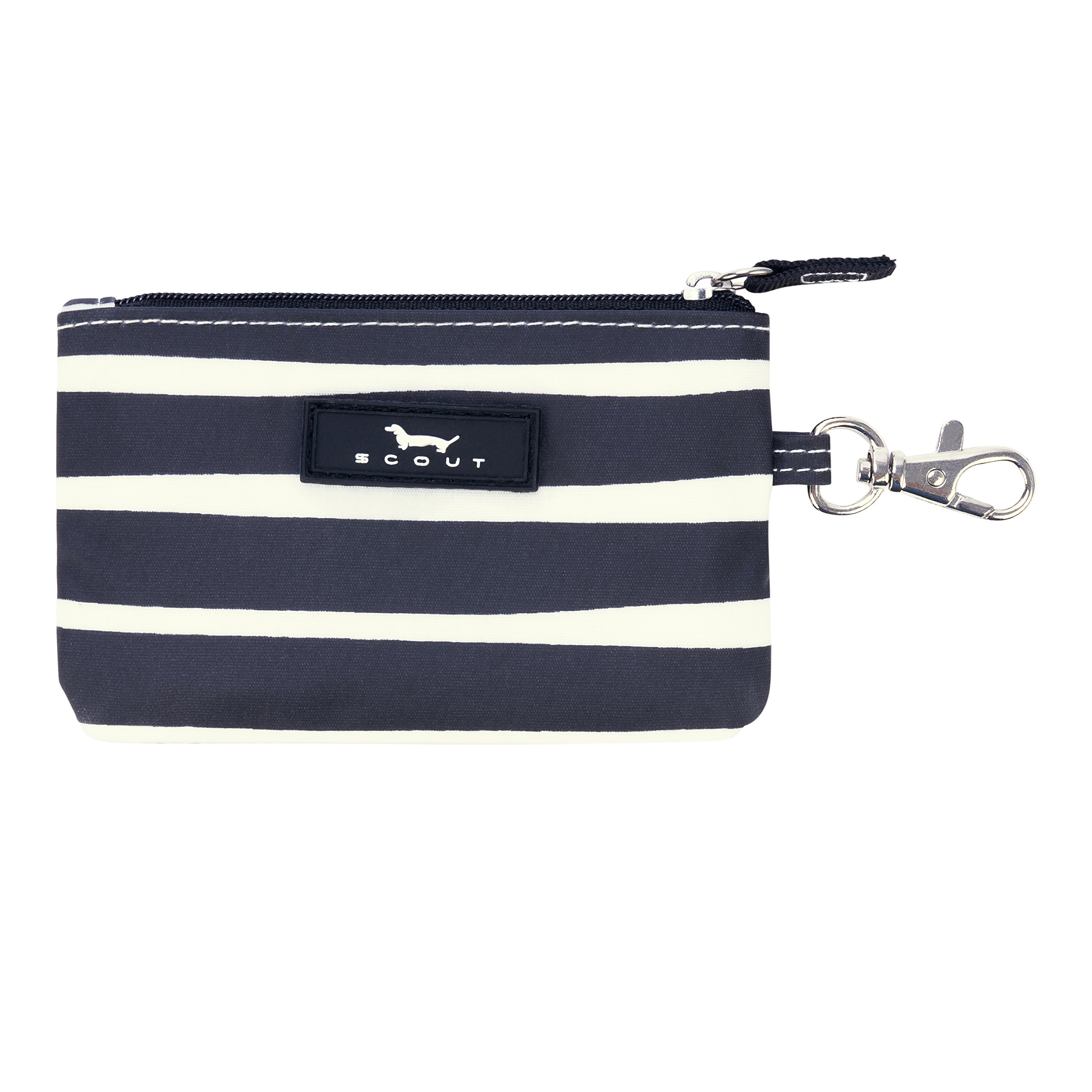 SCOUT IDKase Card Holder or Wallet, ID Holder Window, Key Clasp, Water Resistant, Zips Closed, Ren Noir