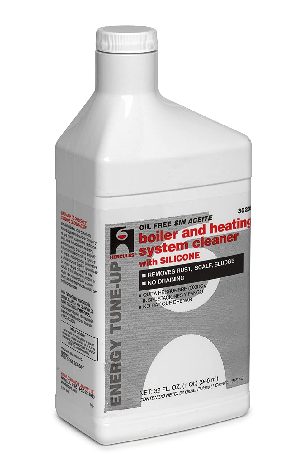 Oatey 35206 Hercules Boiler and Heating System Cleaner, 1-Quart