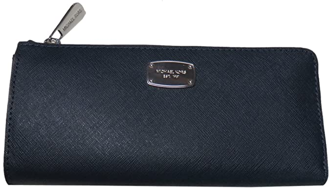 6c24cdbd5f13 Image Unavailable. Image not available for. Color: Michael Kors Jet Set  Travel Large Three Quarter Zip Around Leather Wallet ...