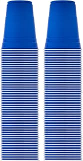 product image for Solo Blue Cup Cold Plastic Party Cups, Round Style, 16 Ounce, 100 Pack