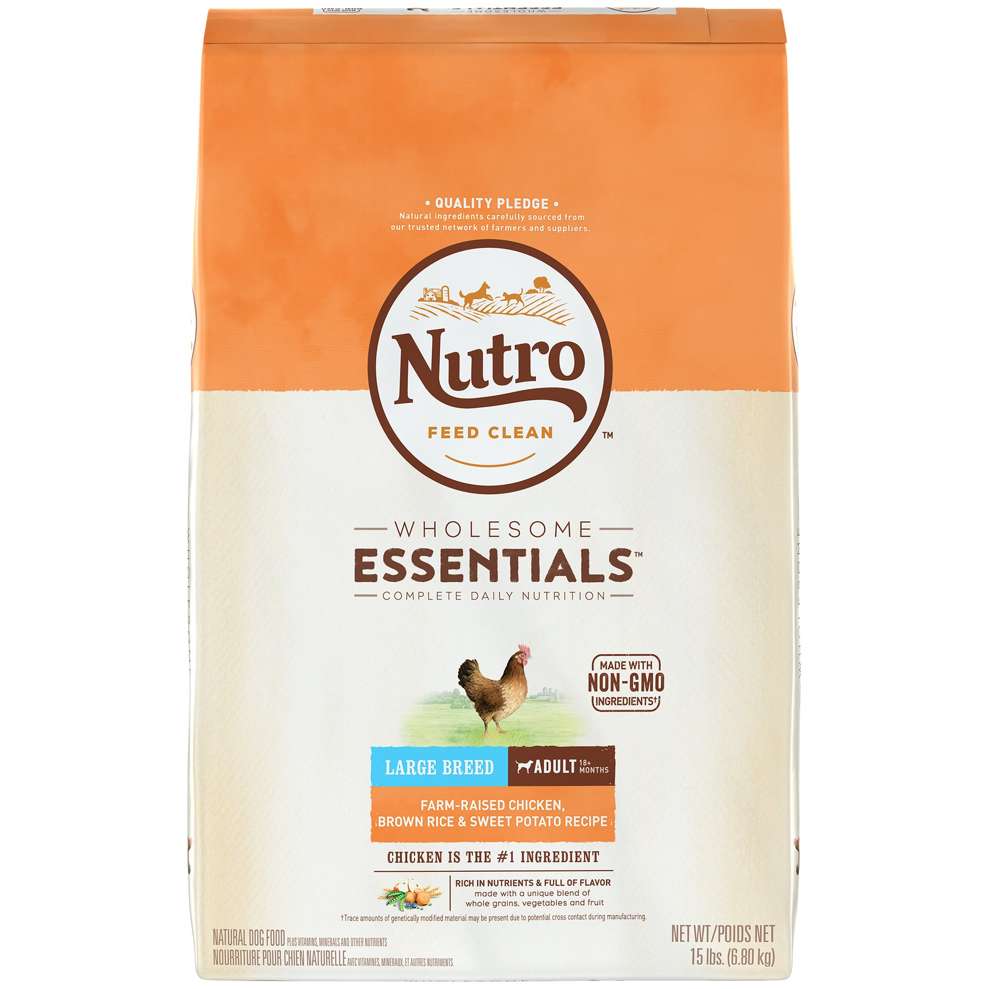 NUTRO WHOLESOME ESSENTIALS Adult Dry Dog Food Standard Packaging 15 lbs.