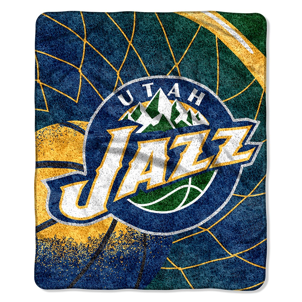 The Northwest Company Officially Licensed NBA Utah Jazz Reflect Sherpa on Sherpa Throw Blanket, 50'' x 60''