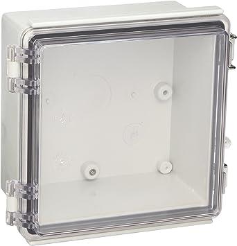 Bud Industries ptq-11046-c PC 10percentfiberglass con bisagra caja ...