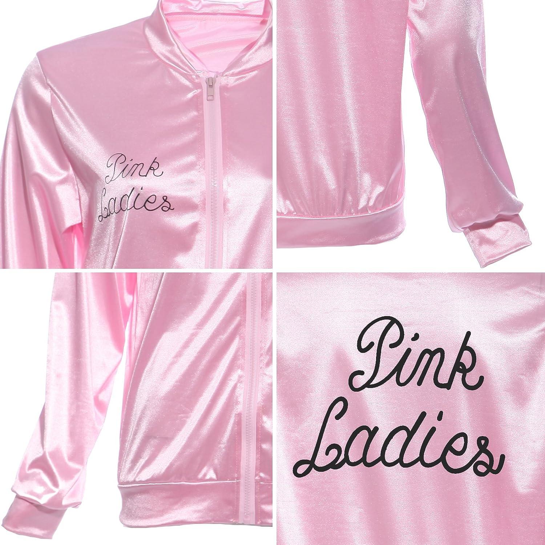 Maboobie - Disfraz de Pink Lady Pink Lady Chaqueta Pink Lady Jacket Talla XL para HALLOWEEN FIESTA CARNACAL: Amazon.es: Juguetes y juegos