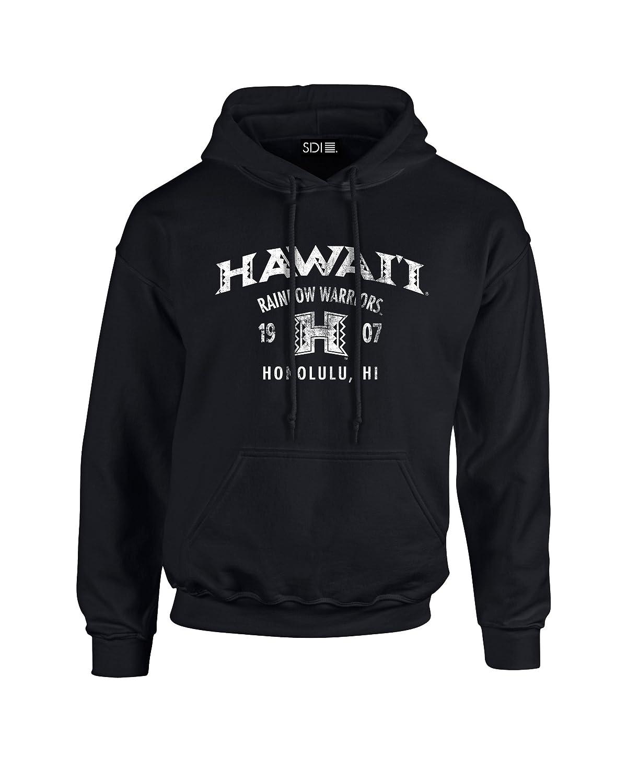 Hooded Sweatshirt SDI NCAA Hawaii Rainbow Warriors 50//50 Blended 8 oz Medium Black