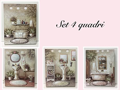 Quadri stile shabby trendy martine alison with quadri stile shabby free quadro canvas shabby - Quadri per bagno ...