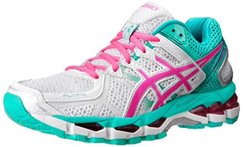 cheap for discount f6209 7917e ASICS Women s Gel-Kayano 21 Running Shoe,White Hot Pink Emerald,