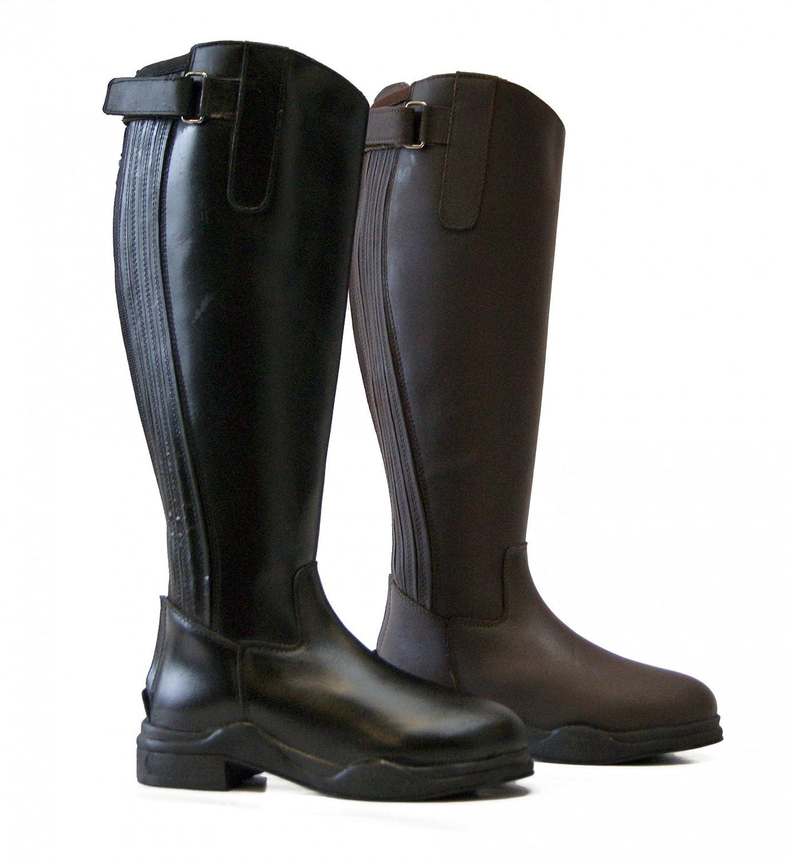 QHP Thermo Leder-Reitstiefel Leder-Reitstiefel Leder-Reitstiefel Lyn Leder schwarz + dunkelbraun warm 7f75fd