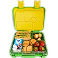 Abovego -Bento Box for Kids & Adults- BPA Free- Leak-Proof with Friendly Latches - Ideal for Portion-Control, Meal Prep and Healthy Balance Diet (Apple Green)