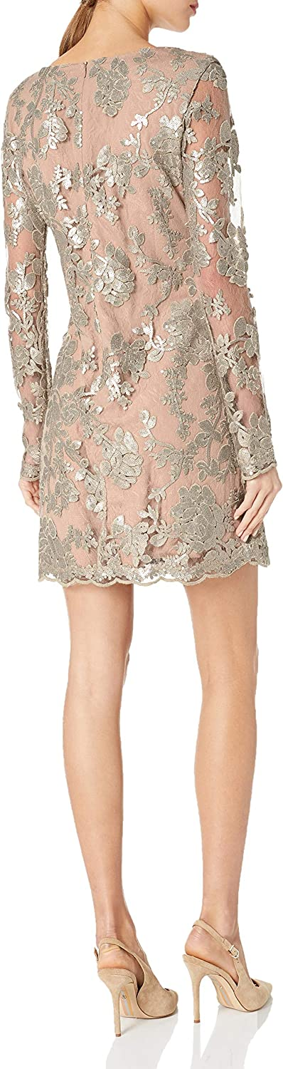 Dress the Population Femme 1214-1161 Robe Silver/Nude