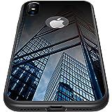 CASEKOO iPhone X ケース 強化ガラスケース 硬度9H ピアノブラック 高級感 iPhone X カバー シンプル 取り出し易い ストラップホールあり