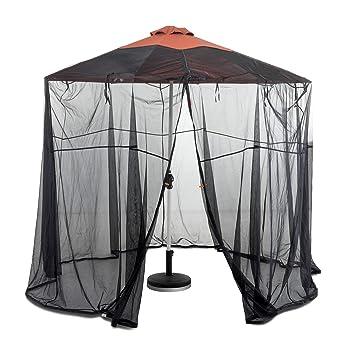 Classic Accessories Universal Round Patio Umbrella Insect Screen Canopy