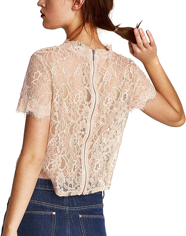 Zara - Camisas - para mujer Rosa M: Amazon.es: Ropa y accesorios