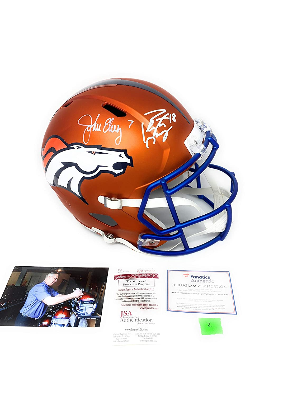 b9a2c17b1c9 Peyton Manning John Elway Denver Broncos DUAL Signed Autograph Rare BLAZE  Speed Full Size Helmet Elway Holo JSA Witnessed Fanatics Authentic  Certified  2