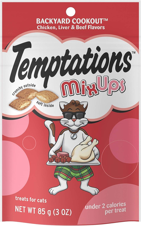 TEMPTATIONS MixUps & ShakeUps Crunchy and Soft Cat Treats, 2.5 - 3 oz. (12 Pack)