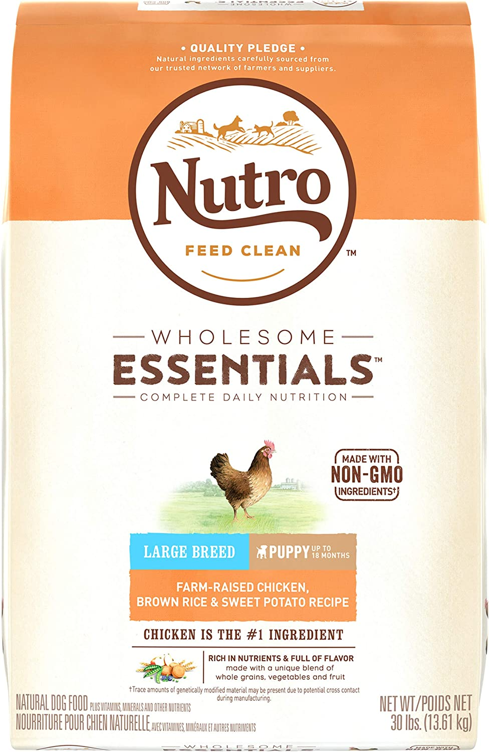 2. Nutro Wholesome Essentials Large Breed Puppy Dry Dog Food