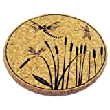 XL Coasters Dragonfly & Cattail