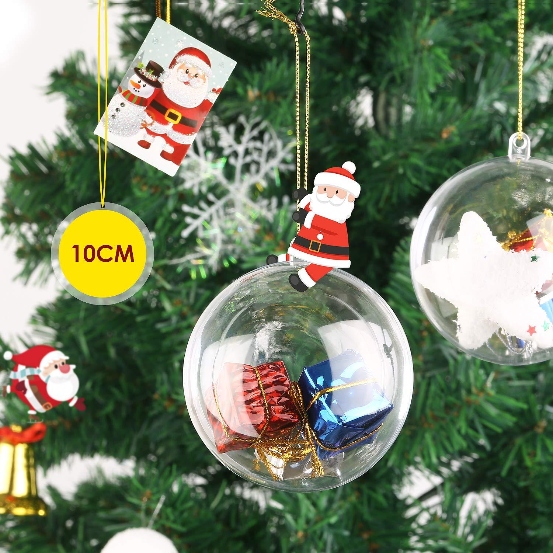 amzdeal 10cm Weihnachtskugeln Set Transparent - DIY Weihnachtsdeko ...
