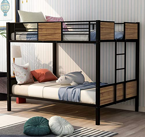 Rhomtree Full Over Full Bunk Bed Study Metal Bed Frame