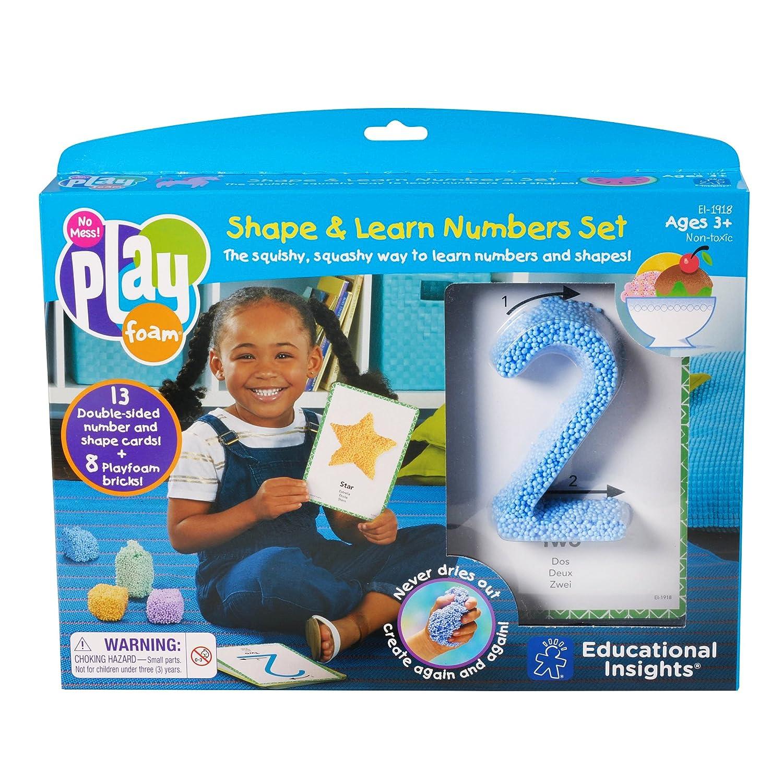 Juego de n/úmeros con Espuma moldeable Learning Resources Playfoam Shape /& Learn