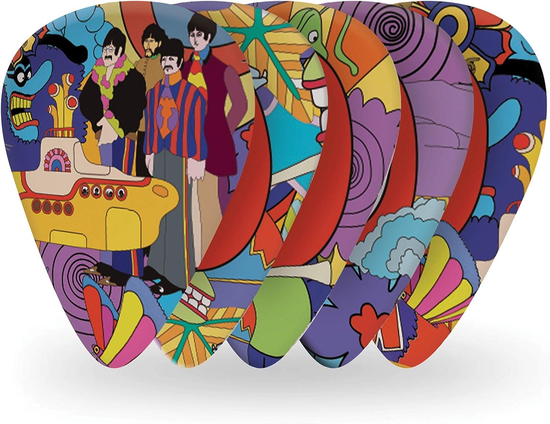 D'Addario Accessories Beatles Guitar Picks, Yellow Submarine, 10 Pack, Heavy Gauge (1CWH6-10B7)