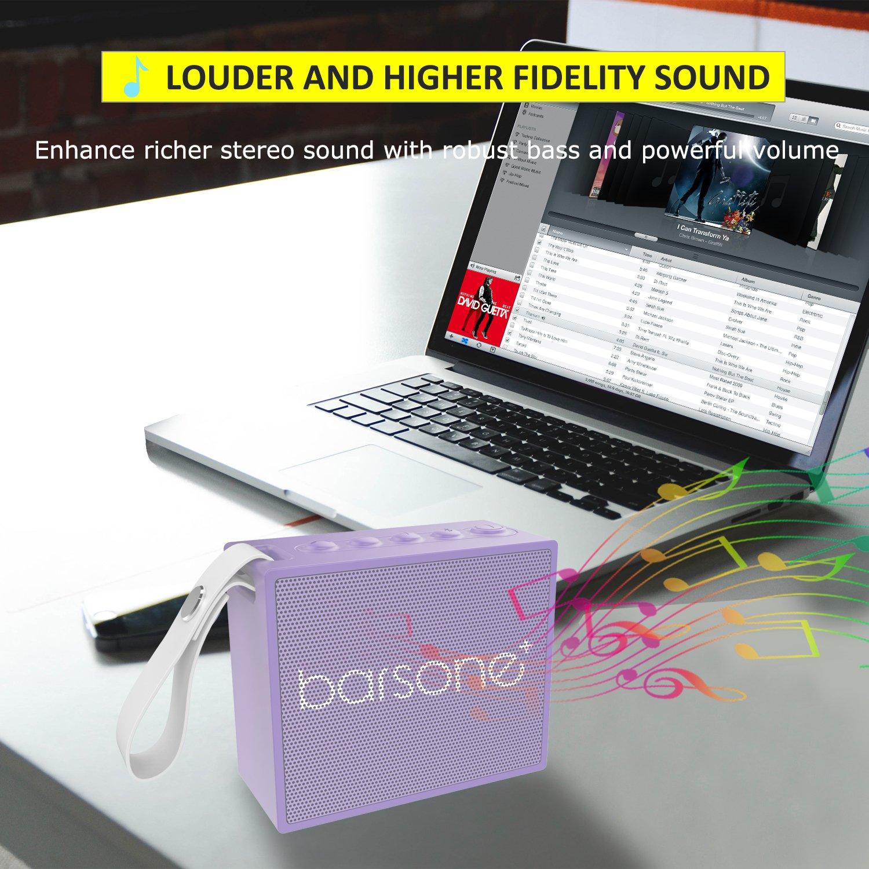 Wireless Bluetooth Speaker,Barsone Outdoor Portable Speakers,Enhanced Bass