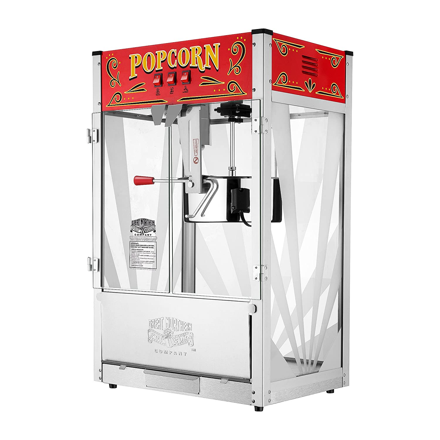 Great Northern Popcorn Company 6222 GNP 16 Oz. Top Popcorn Machine, 16 Ounce