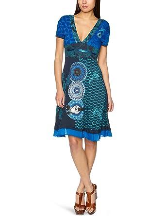 Imprimé Bleu Robe Desigual Vêtements Femme Xs tF5na