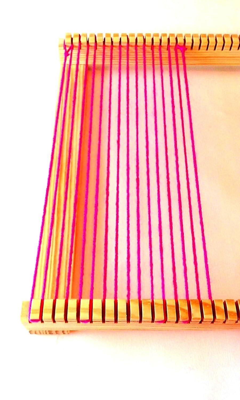 16 x 30 pulgadas Weaving Loom con diseño de cabra, volantes y cobertizo Stick. Incluye aguja: Amazon.es: Juguetes y juegos