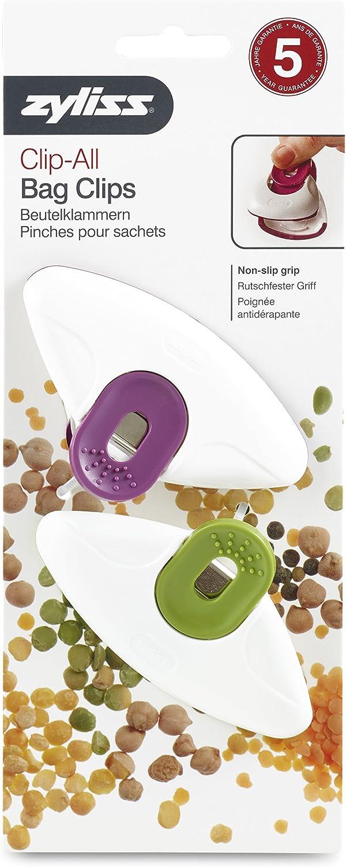 Zyliss clip-all bolsa Clips grande 4/piezas pl/ástico multicolor 3.4x10.5x25 cm Multicolor
