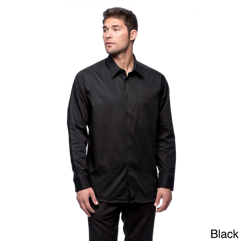 LA Pop Art Calvin KleinMen's Pure-Finish Cotton Long Sleeve Shirt QXKleinPure