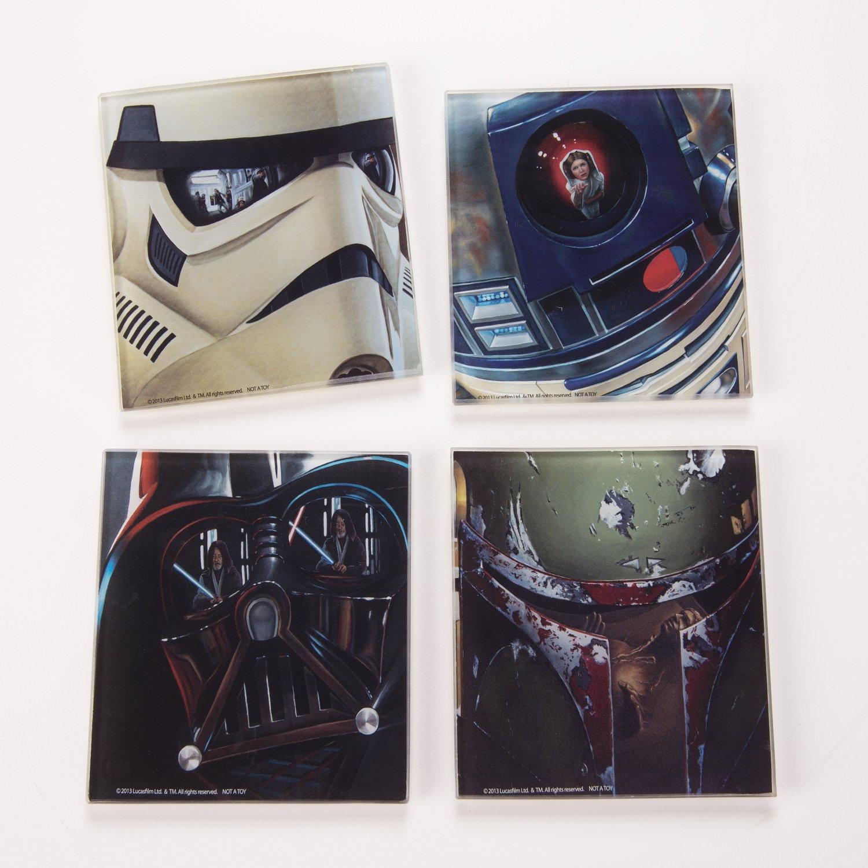 Vandor 99285 Star Wars 4 pc Glass Coaster Set, Multicolor by Vandor