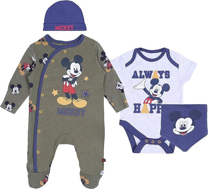 Bodysuit /& Bib Disney Baby Boy /& Girl Mickey Mouse Outfit Gift Set Sleepsuit