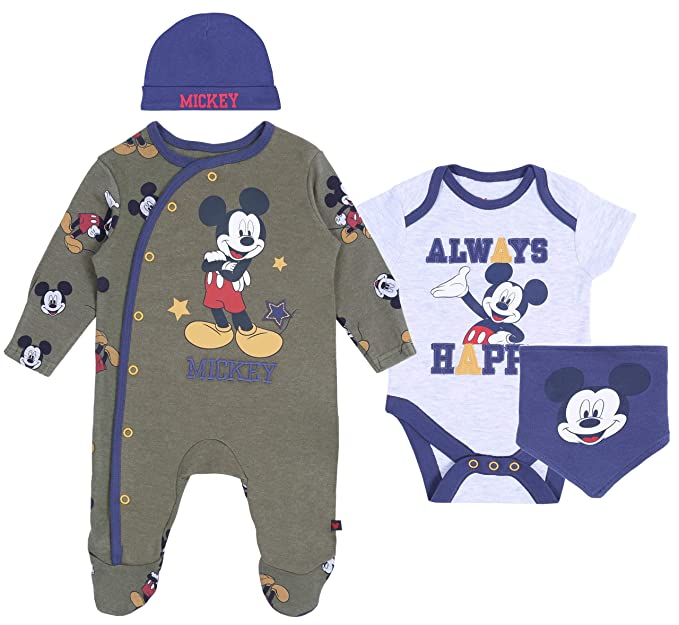 Conjunto para bebé Azul Marino-Khaki Mickey Disney: Amazon.es: Ropa ...