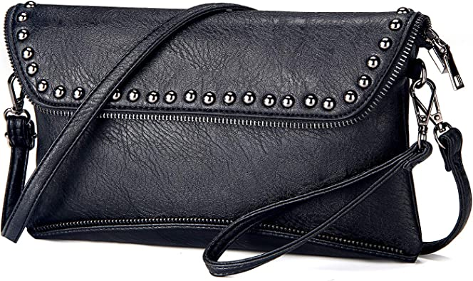Women Purse Handbag Clutch Bag Envelope Wallet Evening PU Leather C