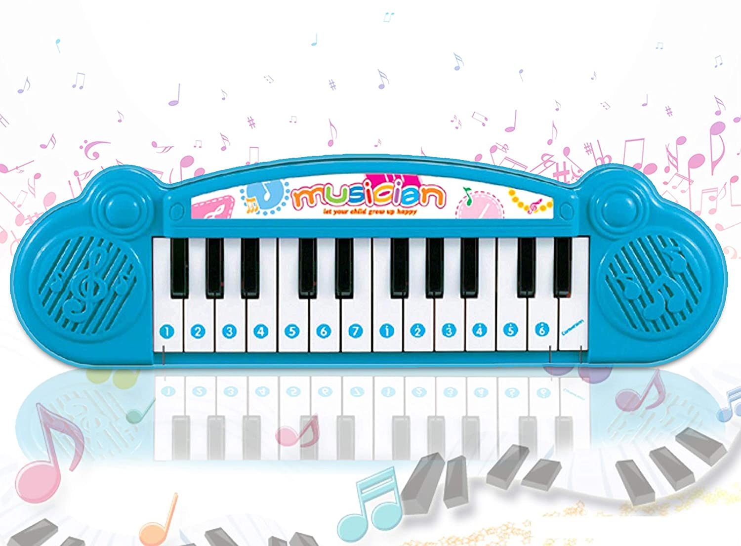Popsugar Mini Musical Keyboard with 24 Keys for Kids