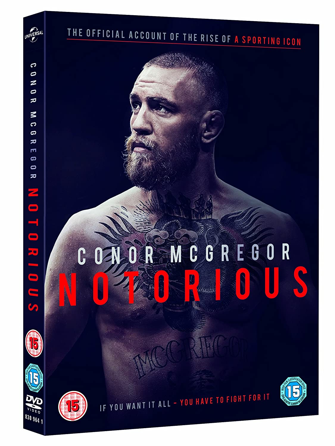 8d80fe8420bfb Conor McGregor - Notorious Official Film DVD 2017 2016: Amazon.co.uk ...