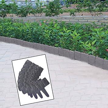 Ushodor 10 Stück Garten Abgrenzung Border Deko Pflanzen Blumen