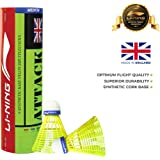 Li-Ning Attack Nylon Shuttle, Pack of 6