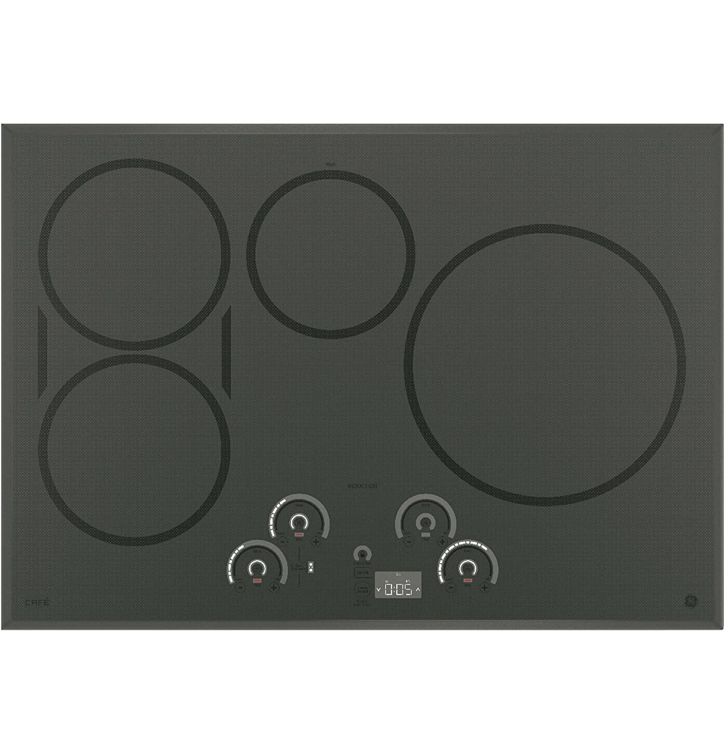 GE Cafe 30' Built-in Induction Cooktop Flagstone Gray CHP9530SJSS