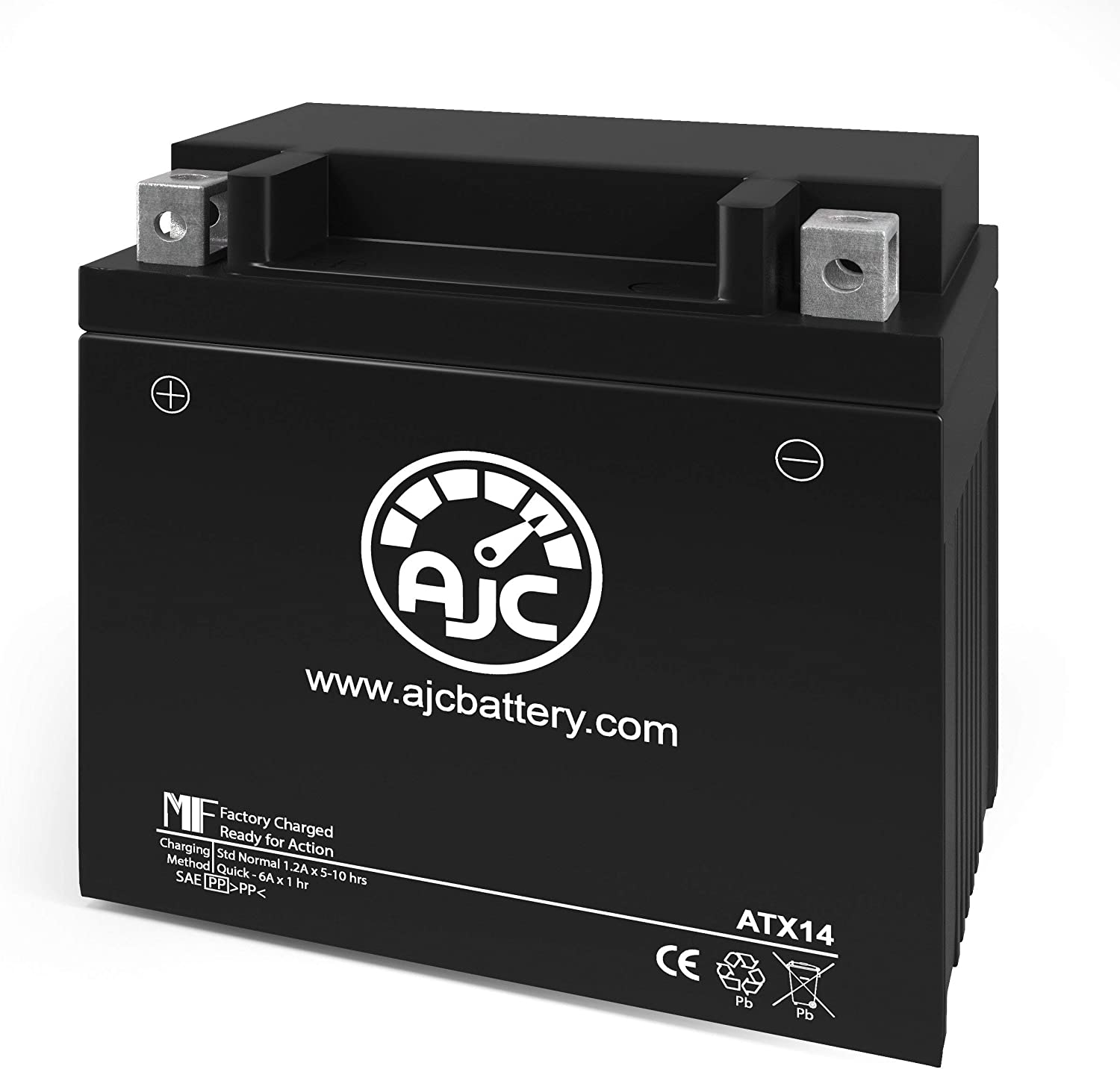 Big Crank ETX14 Powersports Replacement Battery This is an AJC Brand Replacement