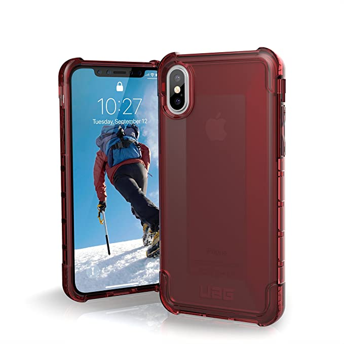 sale retailer 65560 b00a1 UAG iPhone Xs/X [5.8-inch Screen] Plyo Feather-Light Rugged [Crimson]  Military Drop Tested iPhone Case