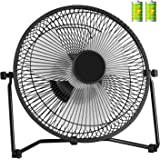 COMLIFE Biggest 11 Inch Rechargeable Metal Desk Fan, Battery Operated or USB Powered Table Fan with 4400mAh Batteries, 3 Speeds, Strong Airflow, Quiet USB Fan for Home, Office and School