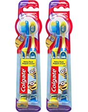 Colgate Kids Toothbrush With Extra Soft Bristles, Minions, 2Count, Pack Of 2